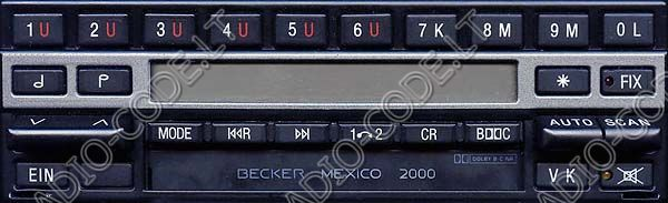 becker mexico 2000 electronic cassette typ 1430 car. Black Bedroom Furniture Sets. Home Design Ideas