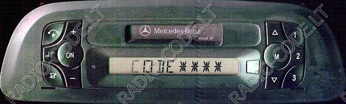 Mercedes benz radio code car image idea for Mercedes benz radio code