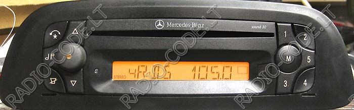 Mercedes sound 4000 radio code for Mercedes benz radio code