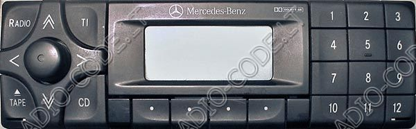 Code 3 mercedes for Mercedes benz radio code