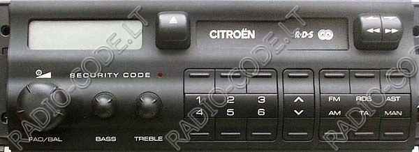 Bosch rcd310 Code calculator